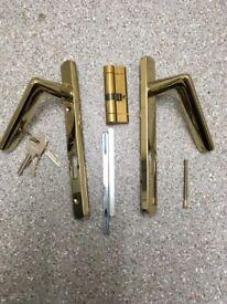 External door handles including lock and keys