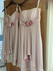 Two BNWT pink dresses one size 14 and one size 10