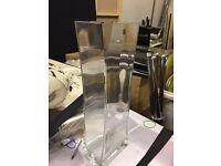 HAND MADE OBLONG ANGULAR GLASS VASE ORNAMENT