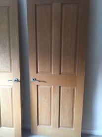 3 Oak Internal Doors in good condition