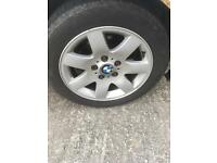 BMW E46 SE alloys great tires.