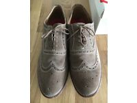 Grenson Men's Suede Brogues. Fawn. Size 11.