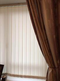 White vertical blinds x 3sets