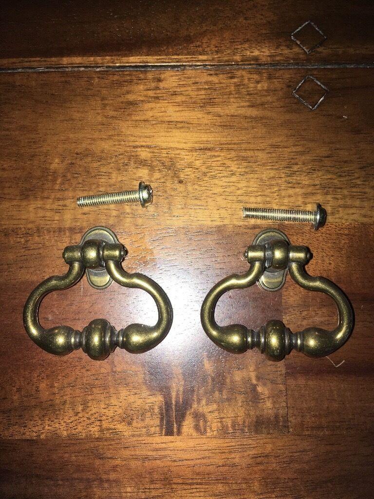 Brass vintage cupboard door handles