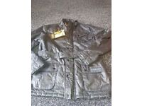 Ladies Barbour International Black Waxed Jacket Womens size 16