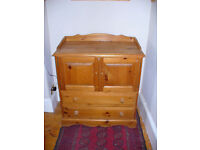 Baby changing table / chest. Solid wood in very good condition.