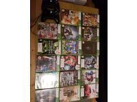 Xbox 360, Kinect, 2 controllers, 17 games