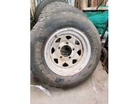 Land rover landrover series Weller steel wheels and tyres