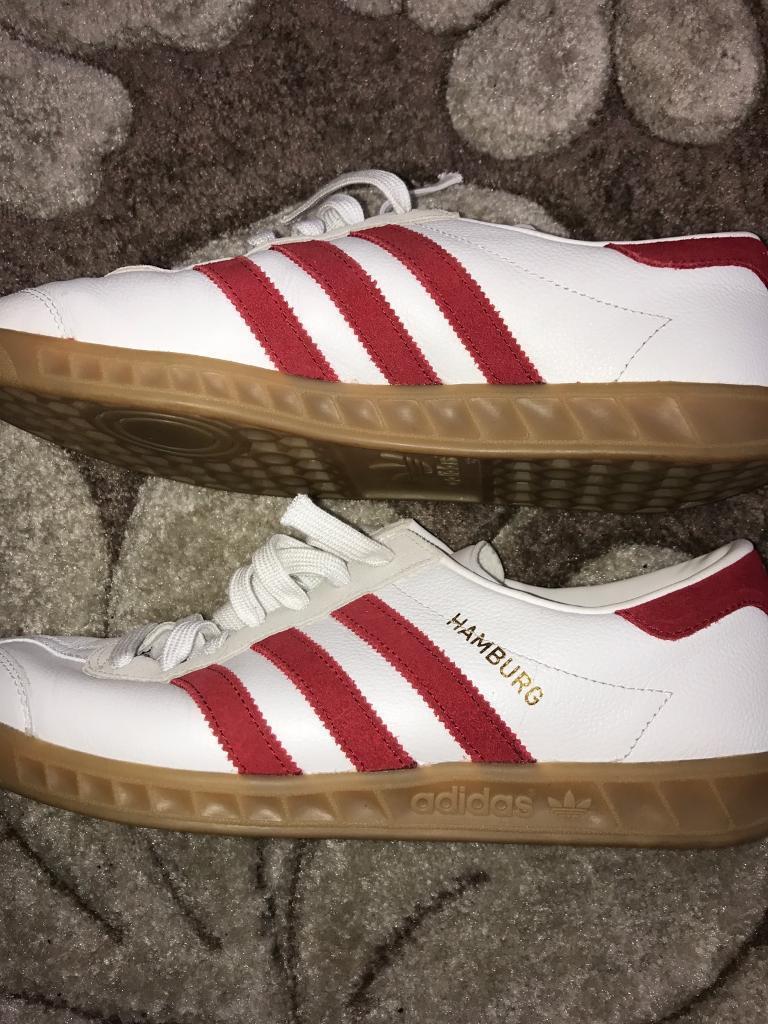 6e0e3913e177 Adidas Hamburg Trainers Size 8 - Worn Once