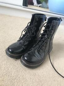 Dr marten style boots size 4