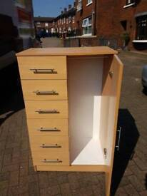 Wardrobe with 6 drawers In beech wood