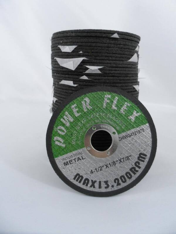 """(50) 4.5"""" Inch Grinding Cut Off Wheel Disc 1/8"""" 7/8"""" Arbor Angle Grinder Tool"""