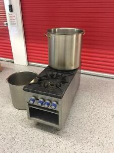 Double stock pot , mixer , slicer , heavy duty stainless pots