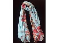 Brand New Blue Butterfly Scarf shawl