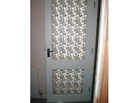 GLASED WHITE OUTSIDE DOOR