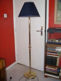vintage retro mid-century brass standard floor standing lamp, of Jackson & King Ltd
