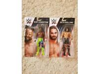 2X WWE WRESTLING FIGURES SETH ROLLINS & KOFI KINGSTON BRAND NEW IN BOXES