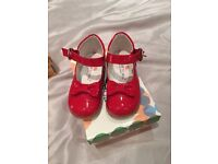 Red leather children shoes