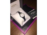 Rotary silver ladies watch
