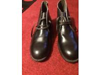 Size 11, Leather steel toe cap ankle boots