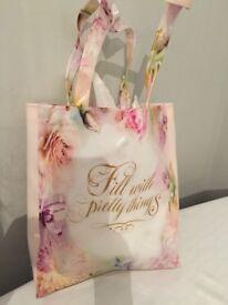 Beautiful floral tote bag and makeup bag