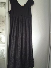 Elegant black evening dress size 24