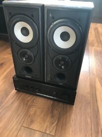 Mission 701 speakers and Sherwood Amp AX7030R