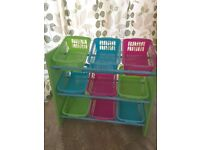 Childrens multicoloured storage baskets