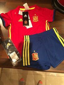9-12 month Spanish football kit
