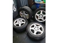 4 Mercedes 15 inch alloy wheels