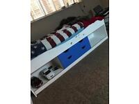 Single white children's bed
