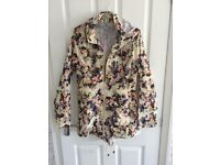 New ladies floral rain mac size 10 (with tags)