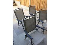 4 x hardwearing outdoor chairs fold up
