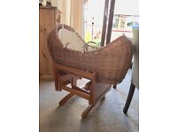 Rocking crib / basket with stand immaculate condition