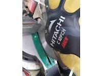 Mitre saw Hitachi with Bosch blade 254mm