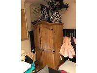 Second hand pine wardrobe
