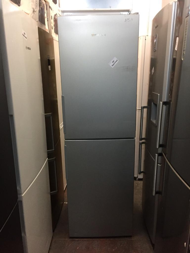 HOTPOINT TALL SILVER FRIDGE FREEZER RECONDITIONED