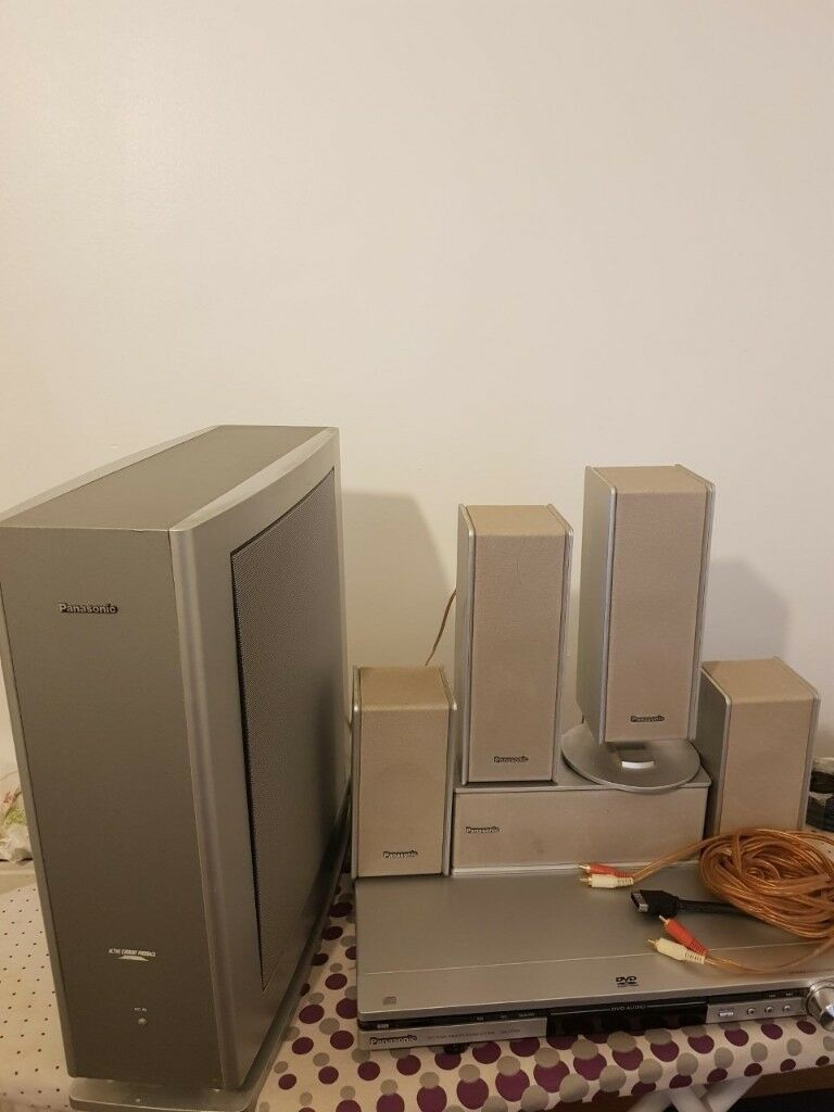 Panasonic Surround Sound System With Subwoofer X5 Speakers Dvd Installation Tips Player Wiring Good Cond Used