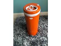 Ubbi Nappy Diaper Pail Disposal Bin - ORANGE