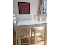 Italian made dining table and 4 chairs