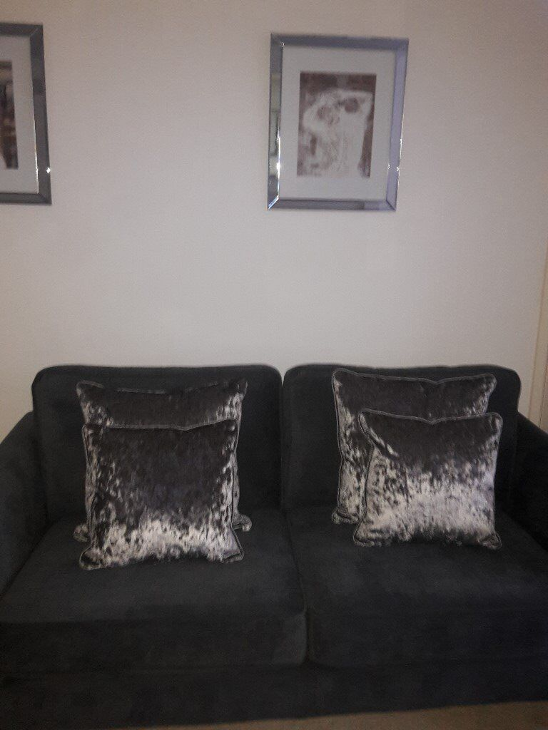silver crushed velvet cushions x 4