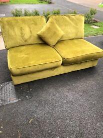 Beautiful modern green sofa