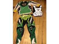 Motor cross body armour and clothing