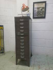 CLASSIC STEEL FILING CABINET - LIGHT BROWN