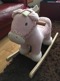 Mamas and Papas Lily Rocking Horse (Pink) in good condition suitable for 12 months +