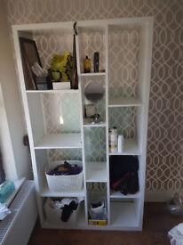 white shelving unit for sale