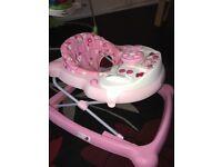 Pink baby walker £10