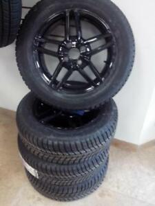 185/65r15 CONTINENTAL WINTER CONTACT SI ON ALLOY GLOSS BLACK 4X100 BRAND NEW