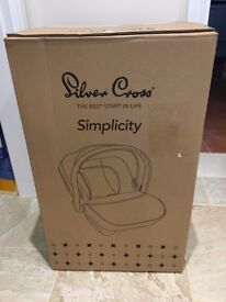 Silvercross Simplicity Car Seat - New and boxed