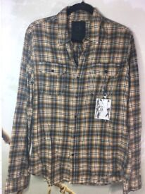 New With Tags Calvin Klein Jeans One Men's Plaid Shirt